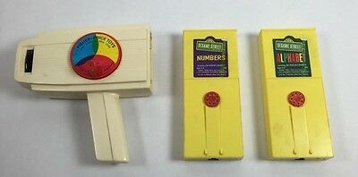 Fisher Price Hand Held Movie Player Silent Films ALPHABET and NUMBERS Vintage