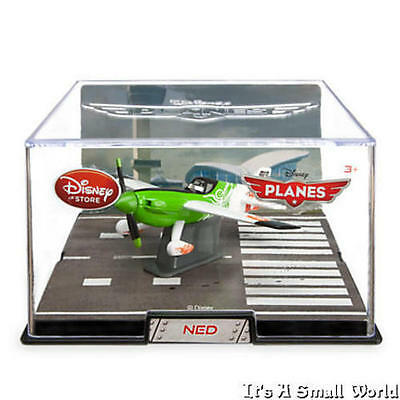 a3f986c92b Disney Store Planes Ned Die Cast Plane 1:43 Scale Collector's Display Case  New