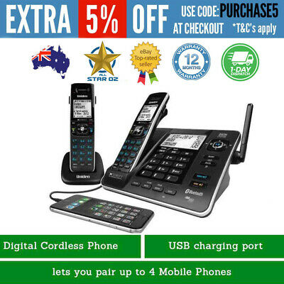Uniden Cordless Phone Bluetooth With Answering Machine Digital HandSet NEW