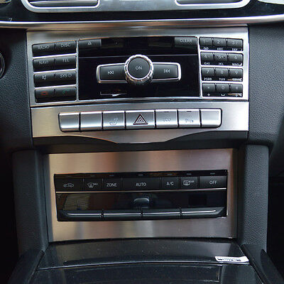 3pcs Center Console CD Panel Cover Trim For Mercedes Benz E Class W212 2014-15