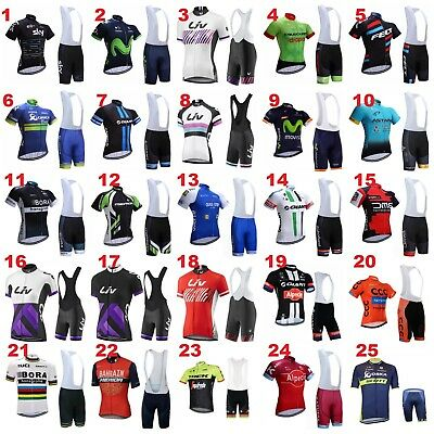 2017 Cycling Bike Jersey Bib Shorts Kit Set Team Sky Giant Liv Padded Short