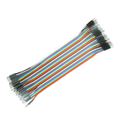 Top 40pcs 20cm Male to Male Dupont Line Ribbon Line Cable Jump Wire Jumper