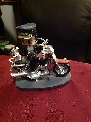 """Betty Boop On A Motorcycle With Pudgy Small Figurine """"Handlebar Broken"""""""