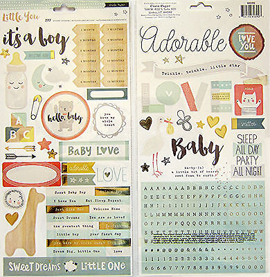 "BRAND NEW!  CRATE PAPER  ( ""LITTLE YOU - BOY 2"" )   STICKER SHEETS  (Save 35%)"
