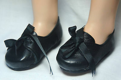 Boneka Puppenschuhe 70X Schnürschuh schwarz/ Lace shoes with ribbonbow 70X black
