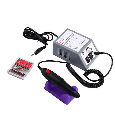 Professional Manicure Pedicure Electric Drill File Nail Art Pen Machine Set