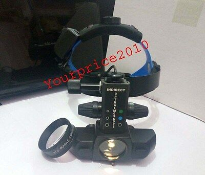 LED Indirect  Ophthalmoscope With  Accessories And 20 D Lens  Ophthalmoscope
