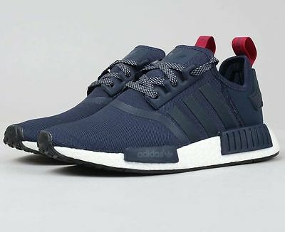 c9c3c1b0c ... wholesale adidas nmd nomad r1 s76011 runner boost collegiate navy blue  red nmd women 411f6 5d55b