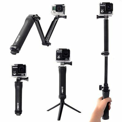3 Way Mount Tripod Mibote Hand Grip Arm Monopod for GoPro Hero 5 Camera with