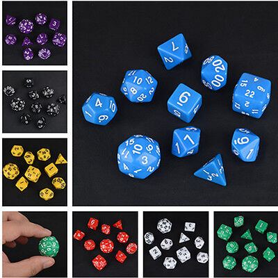 10pcs TRPG Games Dungeons & Dragons Multi-Sided Dice Set A Perfect Gift 7 Colors