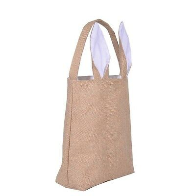 Easter Gift bag Tote Jute Easter Bunny bags With Bunny Ears Easter Baskets