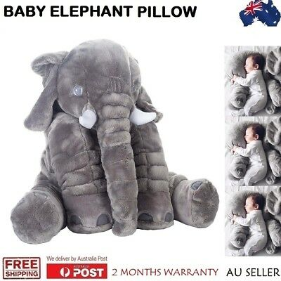 Baby Children Elephant Doll Lumbar Pillow Soft Plush Stuff Toys Long Nose GREY
