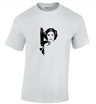 Princess Leia - Carrie Fisher T-SHIRT Red or White (S - 2XL)