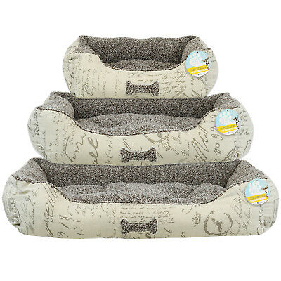 Me & My Script Super Soft Comfy Dog/puppy Warm Pet Bed Small/medium/large S/m/l