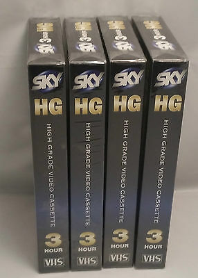 New 4 X Sky Vhs 180 Tapes