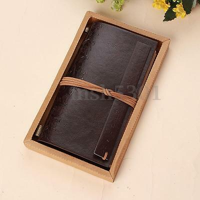 Retro Journal Traveller Leather Cover Blank Note Book Travel Diary Notepad Gift