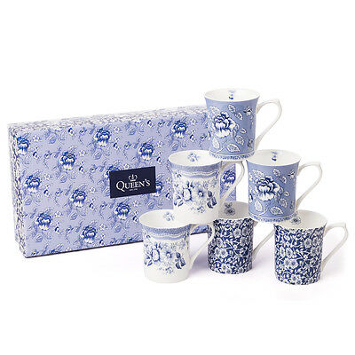 NEW Queens Blue Story Royale Mug Set 6pce