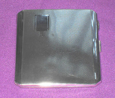 Antique Art Deco 1938 William Neale & Son Solid Sterling Silver Cigarette Case