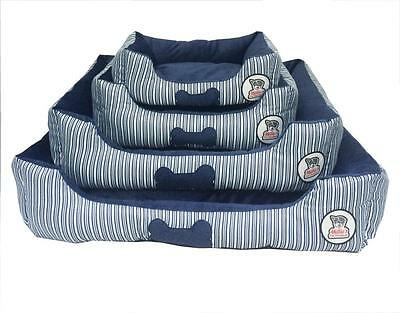 Luxury Blue Pet Dog Puppy Cat Bed Cushion Soft Warm Basket Comfy, S,m,l, Xl