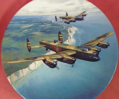 "Royal Doulton Lancasters Over Beachy Head Raf Plane 10"" Plate Box + Cert"
