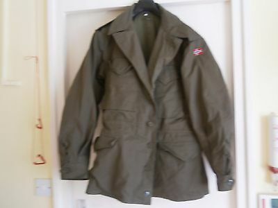 Norwegian M43 4 pocket jacket Size 48 inches, chest Dated 1970 Lightly Used