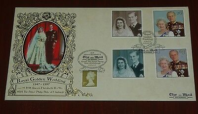 1997 Royal Golden Wedding First Day Cover FDC H/S The Mail