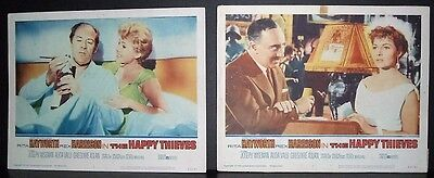 The Happy Thieves 1962 2 11x14 Original U.S lobby cards #5 & #7 in Toploaders