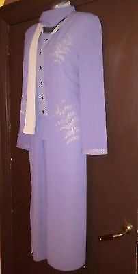 Size 12-14 Jacques Vert Outfit Wedding Occasion Mother of the Bride Lilac Mauve