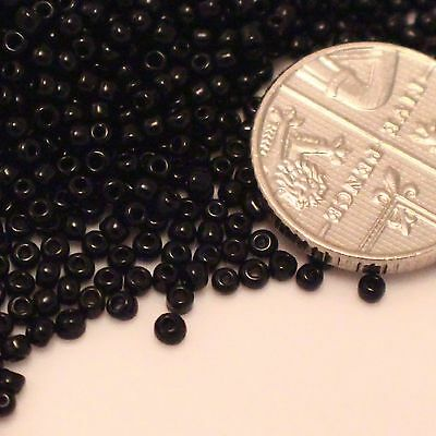 BLACK OPAQUE GLASS SEED BEADS Size 11 FREE POSTAGE (508)