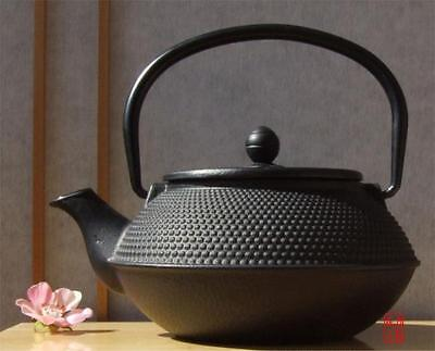 Cast Iron black hobnail teapot 0.8L with sieve