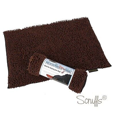 Scruffs Noodle Dry Mat/Rug for Dogs Brown 2 Pack RRP £49.98 Massive Saving