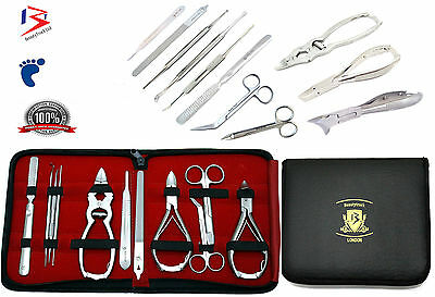 Podiatrist Toenail Clippers Chiropody Podiatry Manicure 11Pc Thick Nail Cutters