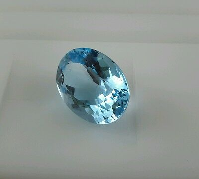22.21Ct  AAA Natural Top Sky Blue Topaz  Mind Earth Stone Big Oval 20x15mm