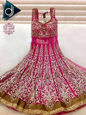 Sale Bollywood Asian Dress Long Anarkali  Salwar Kameez Suit - Pink