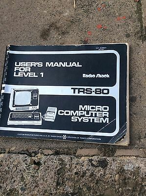 Trs-80 user manual for level 1 book by radioshack rare vintage
