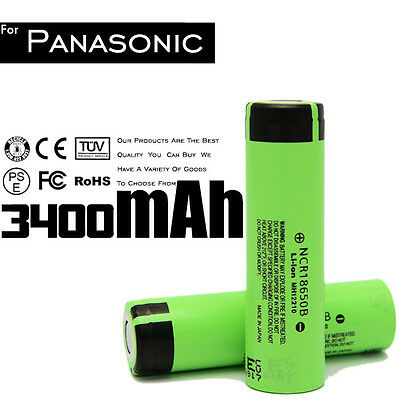 4PCS panasonic NCR18650B Original 3400mah Rechargeable Li-ion Battery