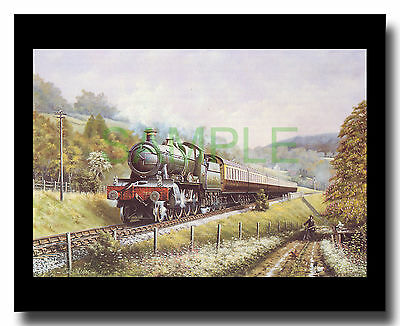 GWR Manor 7819 Hinton Manor Cambrian Coast Express framed picture Chris Woods