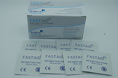 Fastaid 70% IPA Alcohol Wipes, Swabs, Tattoo, Pre-injection Swabs