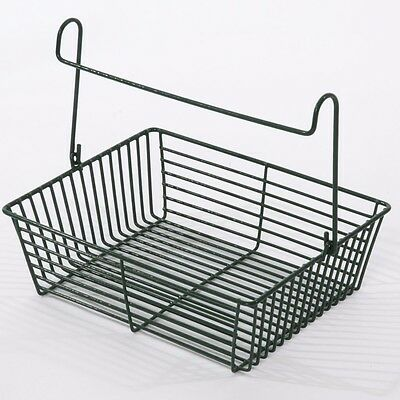 LTW WIRE PEG BASKET Sturdy Steel Construction, Space Efficient,Poly Coated,GREEN