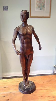 Large Bronze Statue Gay Young Dancer