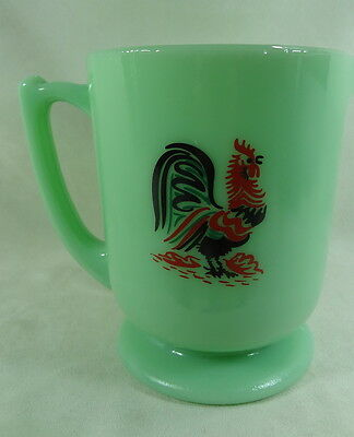 4 Cup Measuring Pitcher 32 Oz Rooster Jadeite Glass Jadite Green Milk Glass NEW