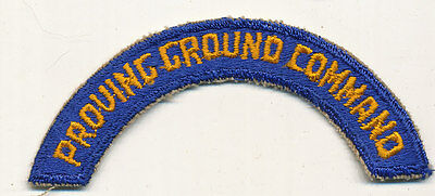 Proving Ground Command tab patch real WWII make US Army Air Force USAAF