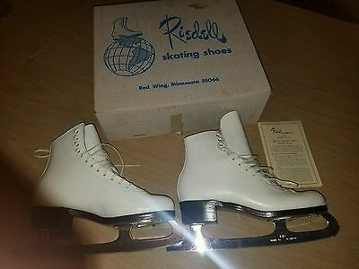 Riedell Silver Star 355 Figure Ice Skates Size 7 AA 2A C2 Boots MK Sheffield