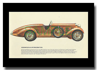 Hispano Suiza 45hp Boulogne 1924 Nieuport body framed picture Pierre Dumont