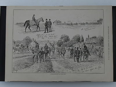 Cambridgeshire Day Sketches - from the Illustrated Sporting & Dramatic News