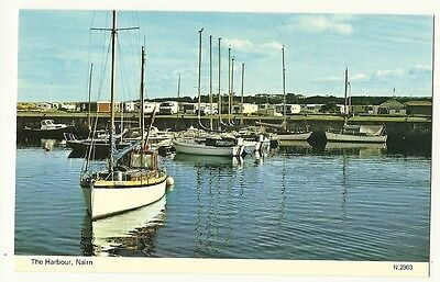 Nairn - a photographic postcard of the Harbour