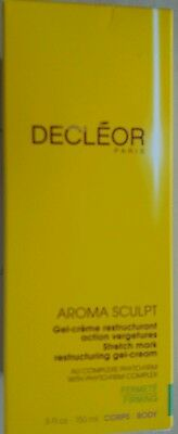 DECLEOR Aroma Sculpt Stretch Mark Restructuring Gel-Cream, 150ml, New, Boxed