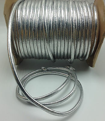 69 Yards Glossy Silver Metallic Climbing Rope Style Trim for Arts Crafts Sewing