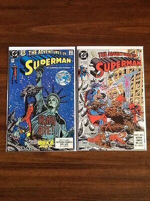Adventures Of Superman #465 & #466 VF 1st Appearance of Hank Henshaw).
