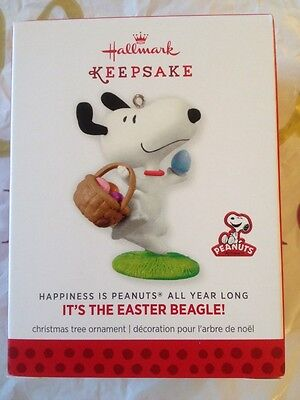 Hallmark 2014 Peanuts Monthly IT'S THE EASTER BEAGLE Snoopy Ornament #9
